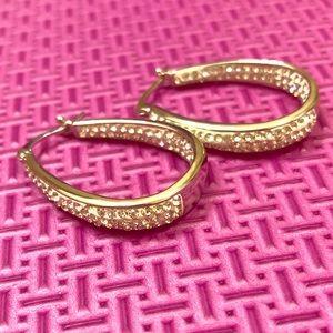 Swarovski Elements Crystal Hoop Earrings